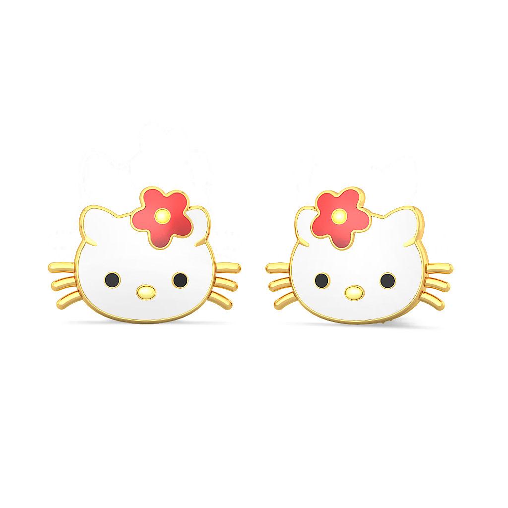 The Kitty Earrings For Kids | BlueStone.com