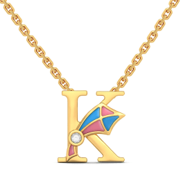 K For Kite Necklace For Kids