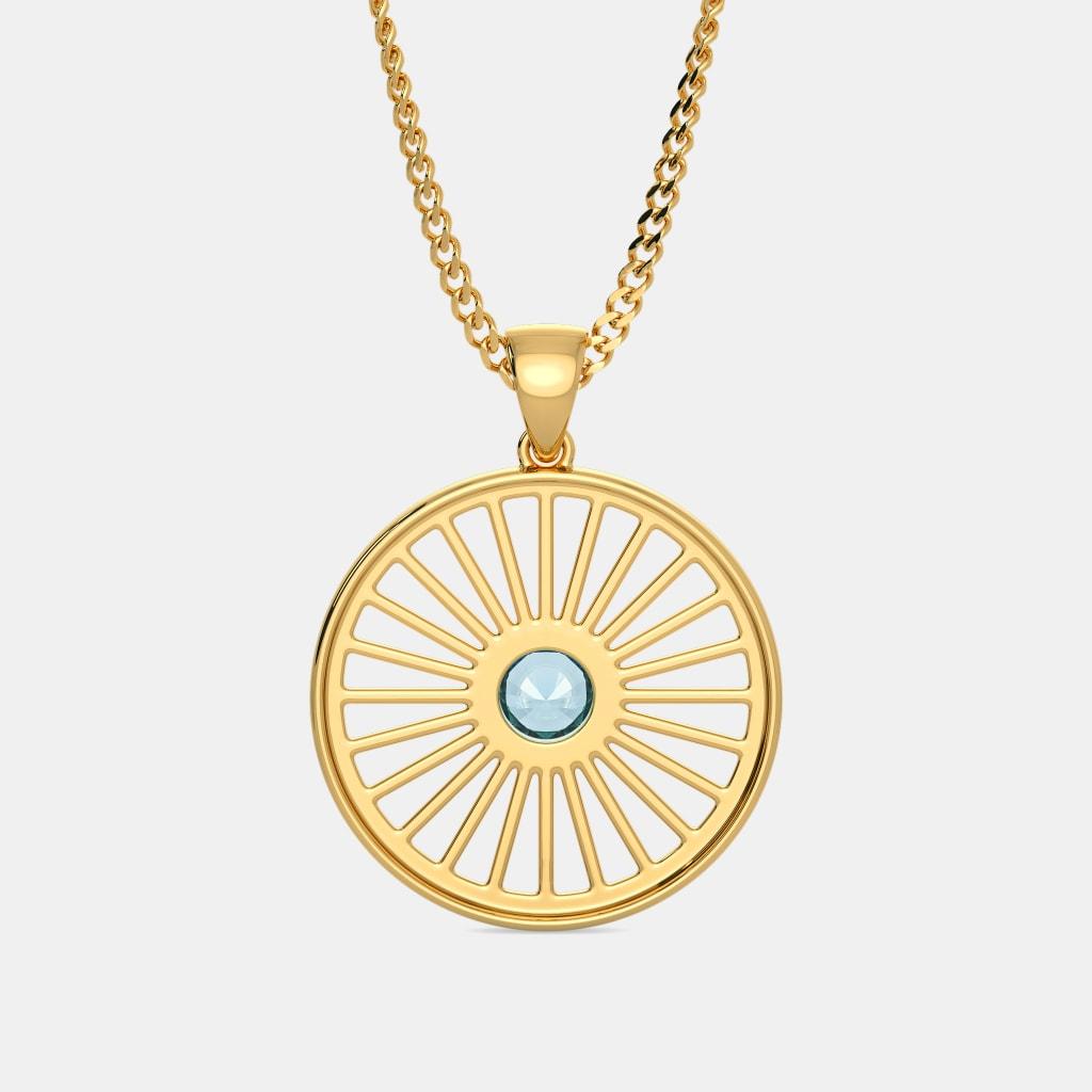 The ashoka chakra pendant bluestone the ashoka chakra pendant mozeypictures Choice Image