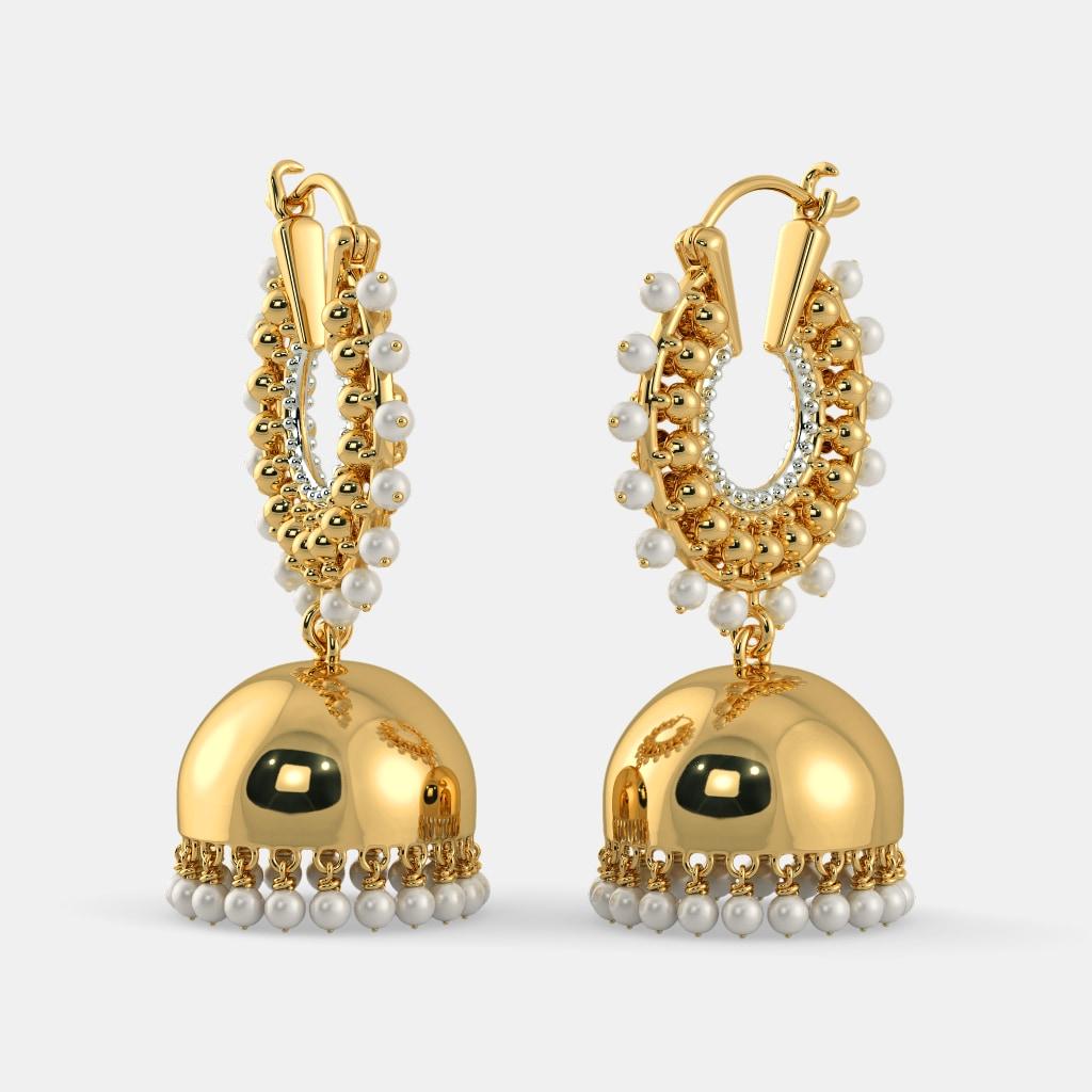Buy Gold Jhumka Earring Designs Online in India 2018 | BlueStone
