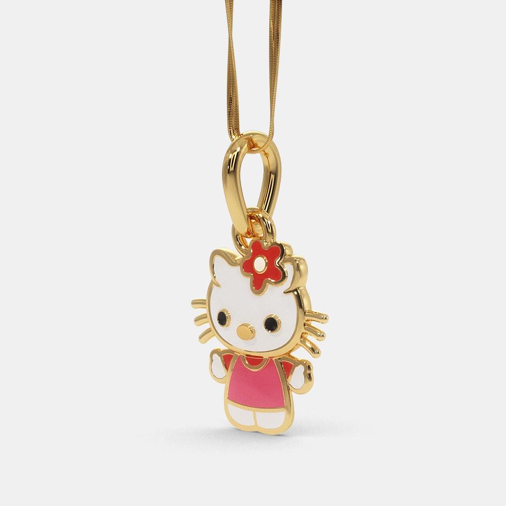 The kitty pendant for kids bluestone the kitty pendant for kids aloadofball Gallery