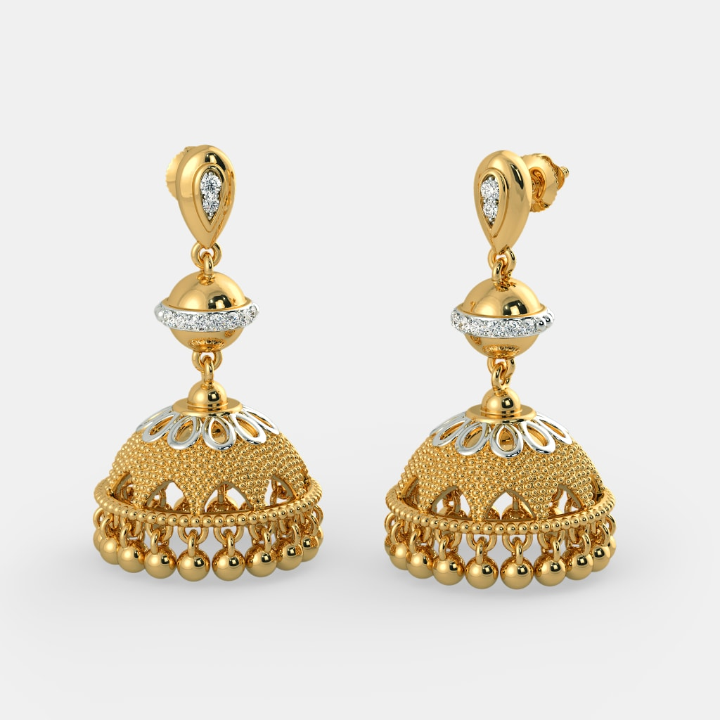 Buy Gold Jhumka Earring Designs Online in India 2018 | BlueStone