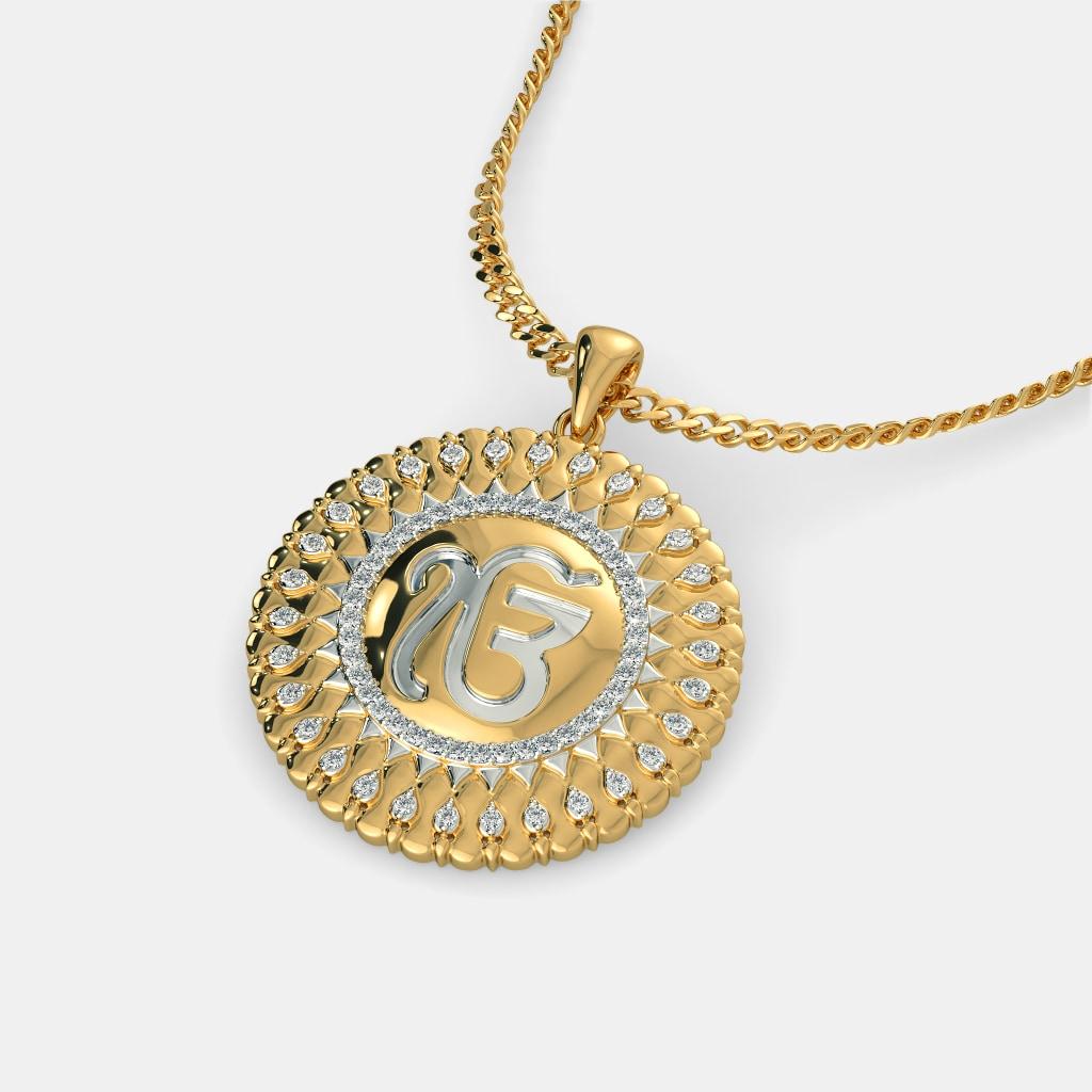 The sacred ek onkar pendant bluestone the sacred ek onkar pendant aloadofball Choice Image