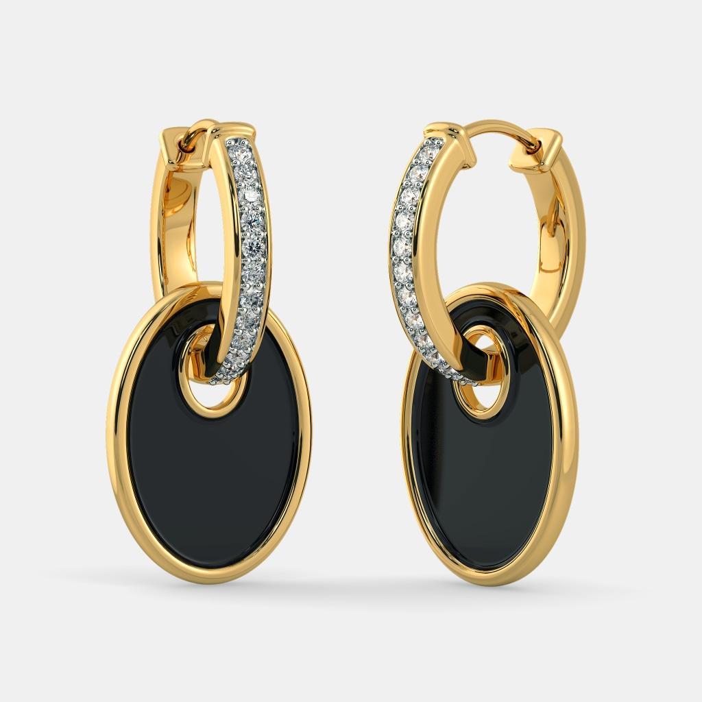 Brand-new The Lady in Black Hoop Earrings   BlueStone.com UW08