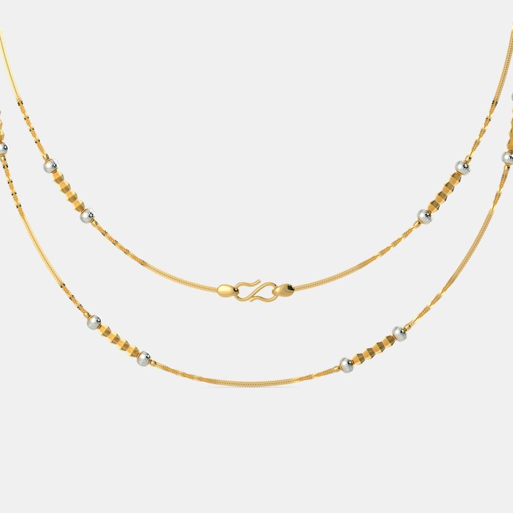 The Aanvi Gold Chain   BlueStone.com