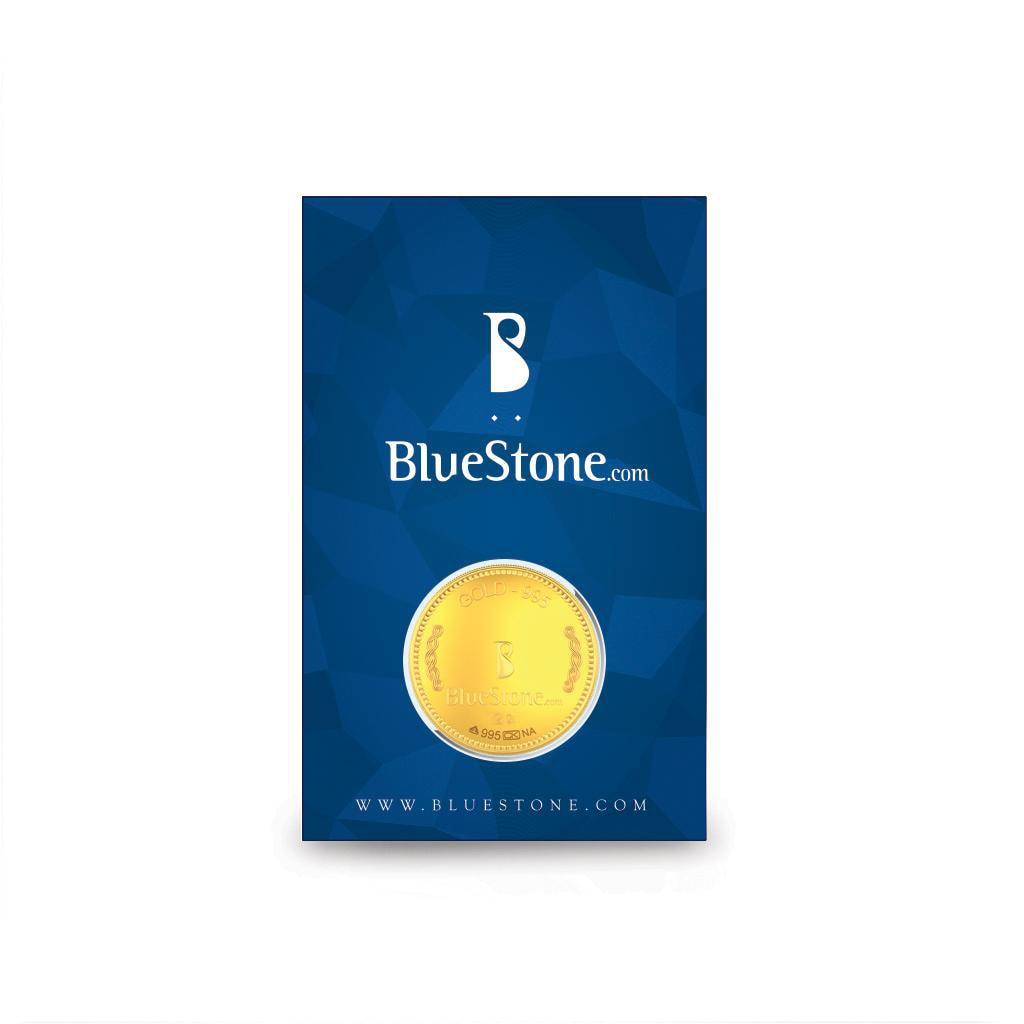 2 gram 24 kt gold coin for Blueston