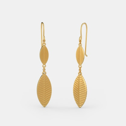 The Gold Leaf Drop Earrings