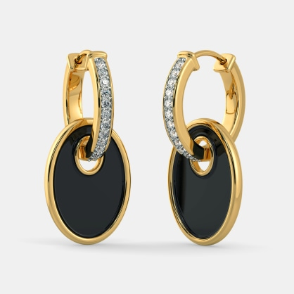 The Lady in Black Hoop Earrings