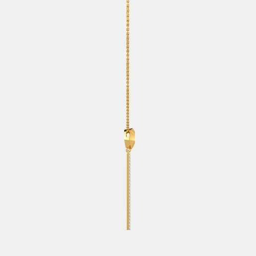 Diamond Necklace In Yellow Gold (4.44 Gram) With Diamonds (0.184 Ct)