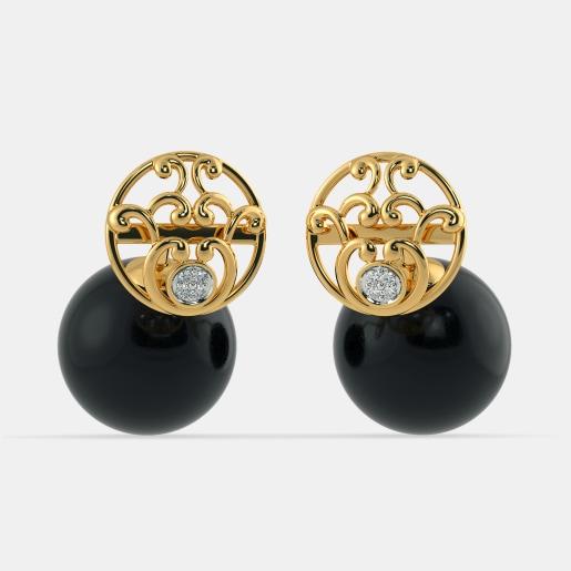 The Sameera Onyx Earrings