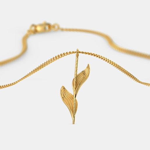 The Gold Blatt Stick Pendant