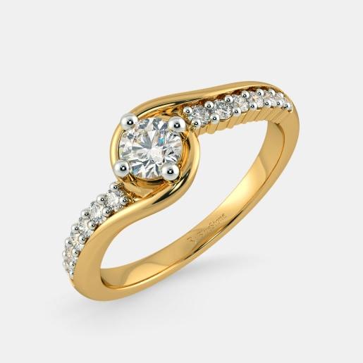 Diamond PreSet Solitaire Ring In Yellow Gold (3.02 Gram)