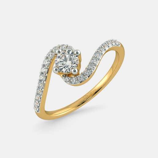 Diamond PreSet Solitaire Ring In Yellow Gold (2.63 Gram)