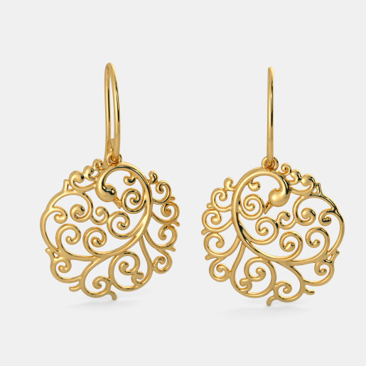 earring gold p top n designs in buy earrings pune sons and gadgil