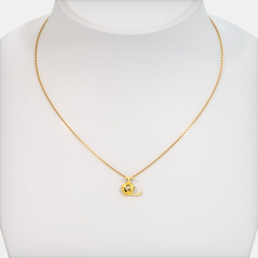 The L For Lion Necklace For Kids