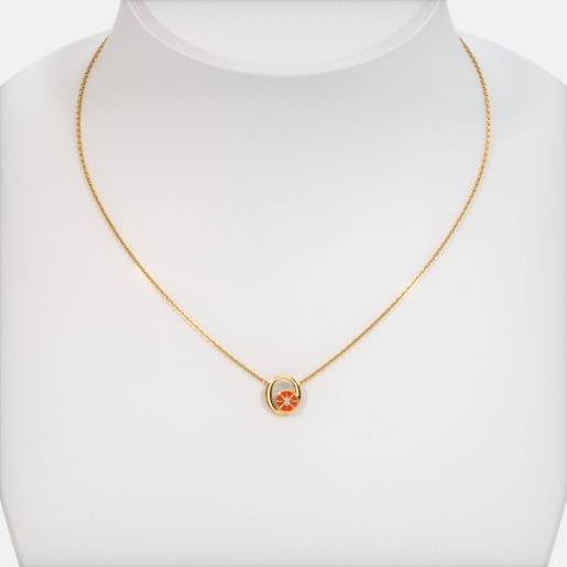 The O For Orange Necklace For Kids