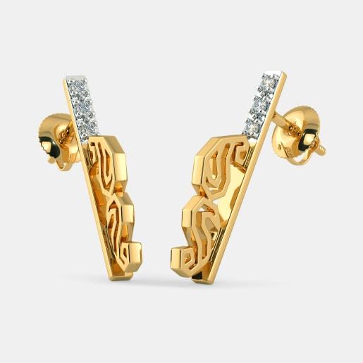 The Linear Paisley Stud Earrings