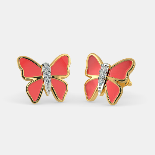 The Red Butterfly Earrings for Kids