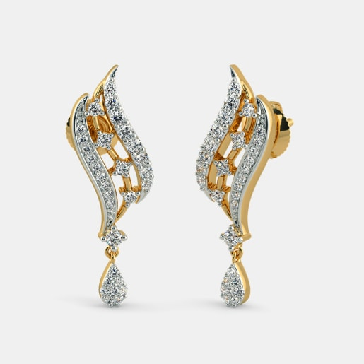 diamond yellow and online earrings at stud stone dp gold bluestone buy qul blue