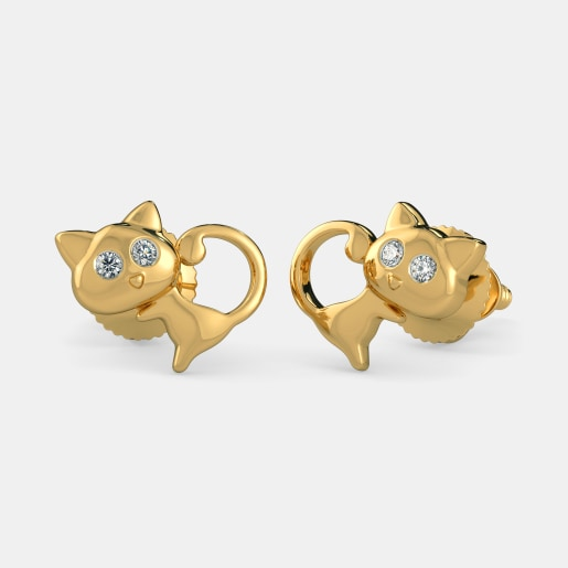 The Cute Meow Earrings For Kids