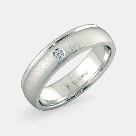 couple europe plated platinum rings jewellery silver simple