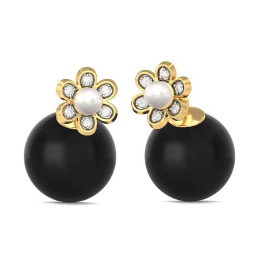 The Nazreeya Onyx Earrings