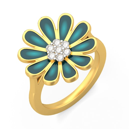The Midnight Blossom Ring