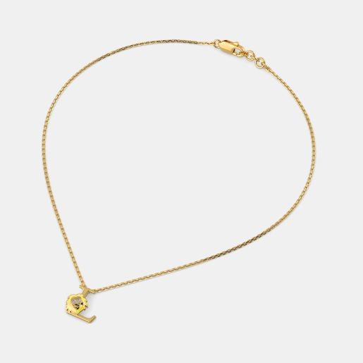 L for Lion Necklace for Kids