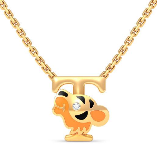 T for Tiger Necklace for Kids